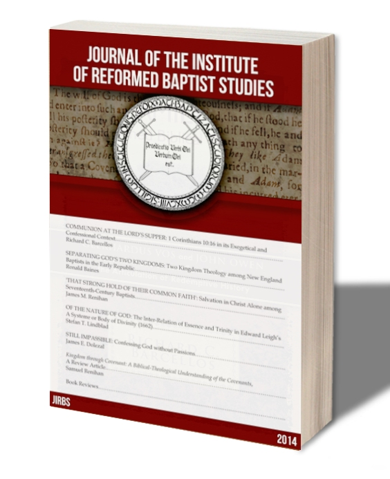 Journal of the Institute of Reformed Baptist Studies