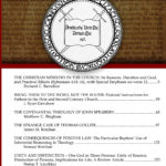 Journal of the Institute of Reformed Baptist Studies, 2016 – articles and book reviews